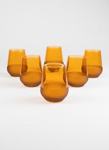 Rakle 425 cc Matte 6'lı Su Bardağı Seti Amber Sarı